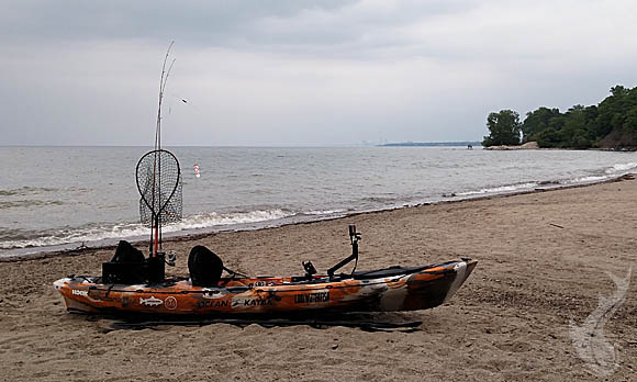 Ominous Weather For Kayak Fishing Lake Erie