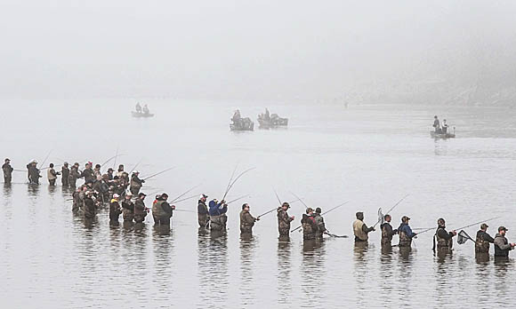 The walleye run for Maumee river fishing